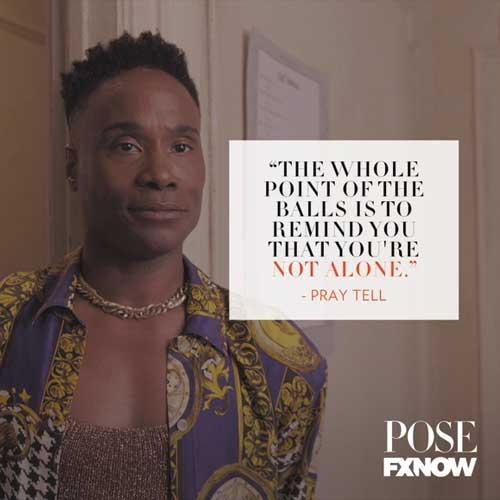 Pray Tell de la série pose, sélection Wag, thématique LGBT