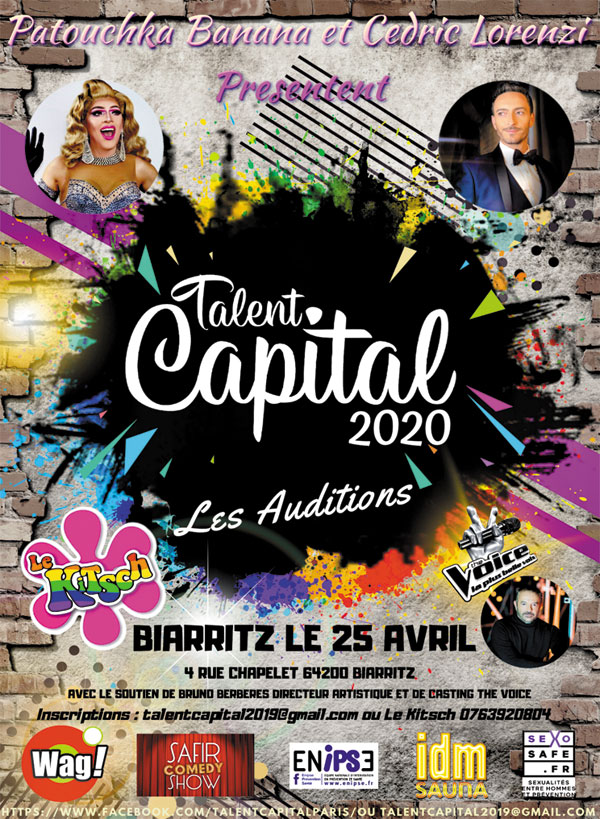 affiche talent Capital LGBT France 2020, Talents gays