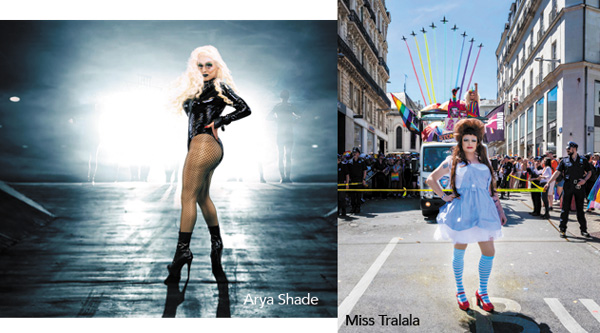 Miss Tralala et Arya Shade des Divine and the Queens à Nantes pour WAG, LGBT