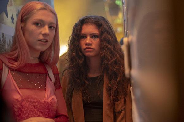 Hunter Schafer, Zendaya dans le teen drama LGBT Euphoria, photo HBO