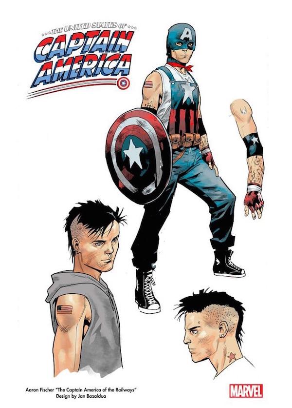 graphisme du nouveau Super-Héros gay de Marvel Aaron Fischer / Captain America
