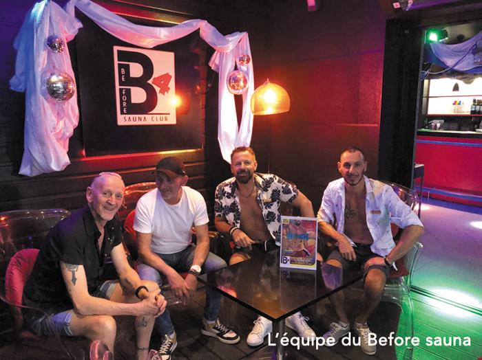L'équipe du sauna gay le Before Sauna à Nantes. Le sauna numéro 1 de Nantes pour le public LGBT.