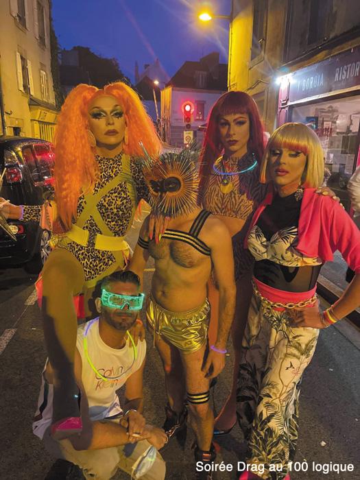 la Bretagne LGBT se donne rendez-vous au bar le 100 logique à Quimper, soirée très gay avec les draq de Britany Hart.