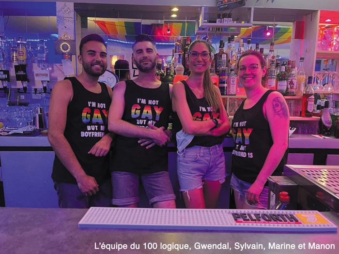 le bar LGBT de quimper, une équipe très gay pour le 100 logique, le bar de Sylvain Jaffry à Quimper. France , Bretagne LGBT.